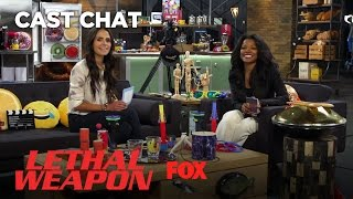 Download Jordana Brewster & Keesha Sharp Talk About Their Love For Rihanna In The Fox Lounge | LETHAL WEAPON Video