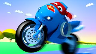 Download The motorbike truck ! Carl the Super Truck - Car City ! Cars and Trucks Cartoon for kids Video