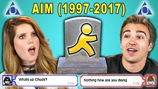 Download ADULTS REACT TO THE DEATH OF AIM (AOL Instant Messenger) Video
