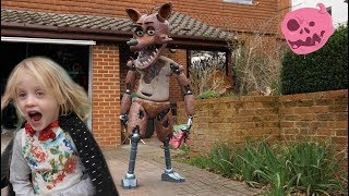 Download real fnaf springtrap foxy & chica vs kids - what happens? Video