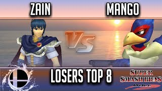 Download Smash'N'Splash 4 LOSERS TOP 8 - PG | Zain (Marth) vs C9 | Mang0 (Falco) Video