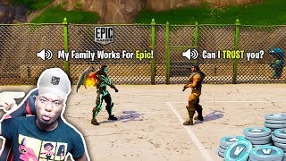 Download I made a 7 year old kid believe I Work for Fortnite by giving him FREE Vbucks... BEST REACTION EVER Video