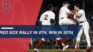 Download Red Sox tie the game in the 9th, walk off in the 10th Video