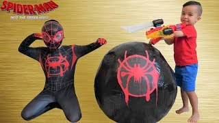 Download BIGGEST Spider-Man Spider-Verse Surprise Egg Toy Collection Opening Fun With CKN Video