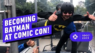 Download Becoming Batman at Comic Con: Collectibles, Rare Costumes, & VR Skydiving! Video