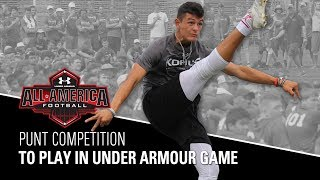 Download Punt Competition | 2018 Under Armour All-American Football Game Selections | Kohl's Kicking Camps Video