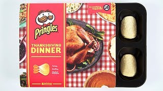 Download Pringles Creates Entire Thanksgiving Dinner in Potato Chip Form Video