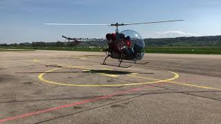 Download Safari 400 Helicopter startup and take off from LSZG (Grenchen) Video