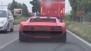 Download Chasing the Miura Jota in a Lamborghini Countach on Grande Giro Video
