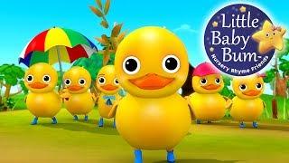 Download Six Little Ducks | From Five Little Ducks | Nursery Rhymes | by LittleBabyBum! Video