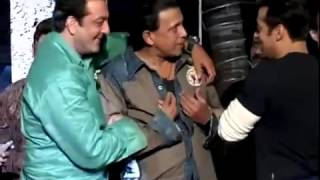 Download Salman Khan has fun with Mithun Chakraborty Sanjay Dutt medium2 Video
