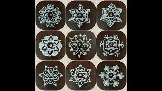 Download DAILY KOLAM DESIGNS WITH 5 X 3 DOTS/Simple rangoli/Designs with dots/5 x 3 dots muggulu/Easy rangoli Video