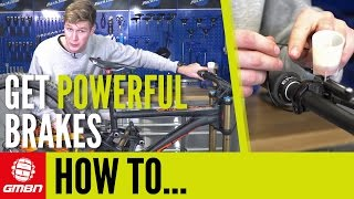 Download How To Get More Power From Your Brakes   Mountain Bike Maintenance Video