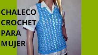 Download Como tejer un Chaleco Express para mujer en tejido crochet Video