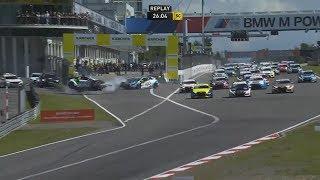 Download ADAC TCR Germany 2017. Race 2 Nürburgring. Dino Calcum Start Huge Crash Video