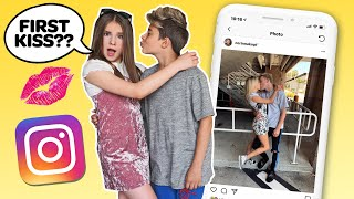 Download Recreating Famous INSTAGRAM COUPLES Photos CHALLENGE **FIRST KISS** 💋💕| Piper Rockelle Video