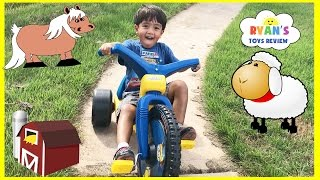 Download Kids Family Fun Trip to the Farm Animals Giant Slide Inflatable Bounce Children Activities Kids Toys Video