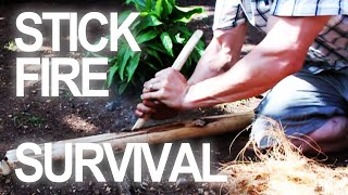 Download How To Make a Fire By Rubbing Sticks Video