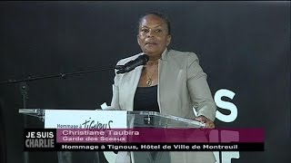 Download L'hommage de Taubira à Tignous et son ″crayon magique″ (discours intégral) Video