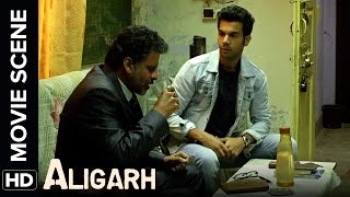 Download Manoj charges at Rajkummar with an umbrella | Aligarh | Movie Scene Video