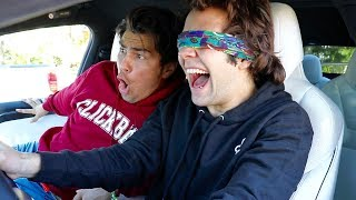 Download DRIVING MY TESLA WHILE BLINDFOLDED!! Video