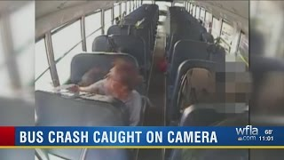 Download VIDEO: Semi crashes into Pasco County school bus Video