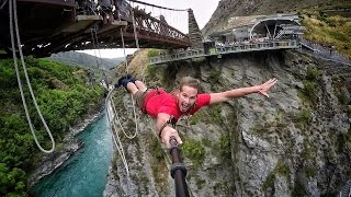 Download Extreme Bungy Jumping with Cliff Jump Shenanigans! Play On in New Zealand! 4K! Video