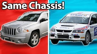 Download 5 Cars You'd Never Guess Shared The Same Chassis!! 🔧 Video