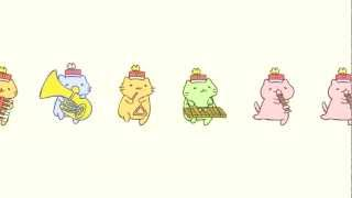 Download みっちりねこマーチ - MitchiriNeko March - Cute cat characters in a marching band! Video