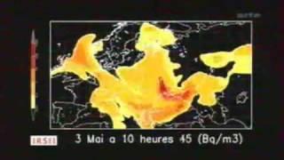 Download Evolution du nuage radioactif de la catastrophe à la central nucléaire de tchernobyl 26/04/1986 Video