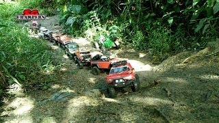 Download Mudding! Mud SPA! 10 trucks mud terrain Trail finder 2 Axial wraith scx10 Jeep RC offroad adventures Video
