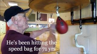 Download 85 Yr Old Grandpa Rips The Speed Bag!!!!! Video