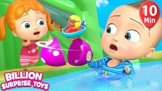 Download Surprise Egg & Slides | BillionSurpriseToys Nursery Rhyme & Kids Songs Video