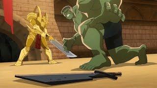 Download Planet Hulk: Hulk vs Red King & Caiera Video