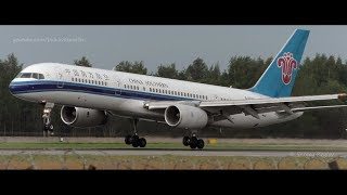 Download China Southern Boeing 757 smooth landing and a very fast stop. Video