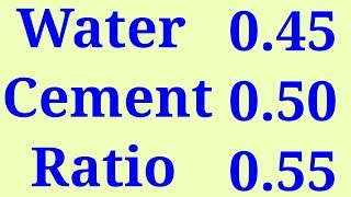 Download Water Cement Ratio in Concrete Video