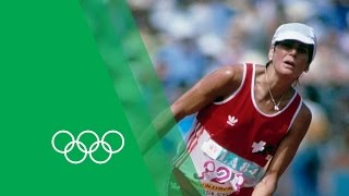Download An Unforgettable Marathon Finish - Gabriela Andersen-Schiess | Olympic Rewind Video