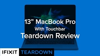 Download 13″ MacBook Pro (With Touchbar) Teardown Review! Video