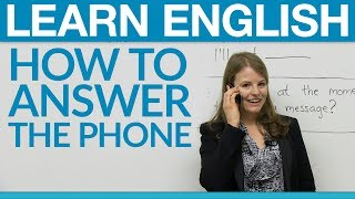Download Speaking English - How to answer the phone Video