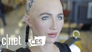 Download Watch Sophia the robot walk for the first time Video