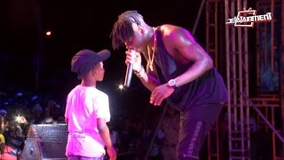 Download 8 year old boy 'steals' Stonebwoy's show on KNUST campus Video