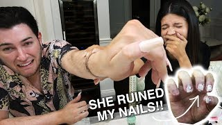Download I Tried Wearing Acrylic Nails for 24 Hours ft. Laura Lee... IT WAS BAD Video