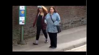 Download Woman dancing at bus stop new version Video