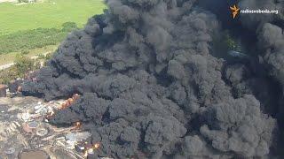 Download Зняте з безпілотника гасіння пожежі на нафтобазі під Києвом Video