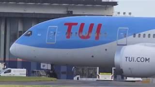 Download TUI Air B787-8 Dreamliner ″Neil″ departs Glasgow Airport for Bridgeton Video