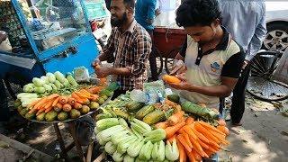 Download FRUITS NINJA of DHAKA Amazing Cucumber & Carrot Cutting Skills Bangladeshi street Food Video