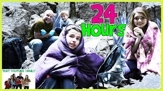 Download 24 Hours In iCE CAVE Exploring Hidden Abandoned Rooms / That YouTub3 Family Video