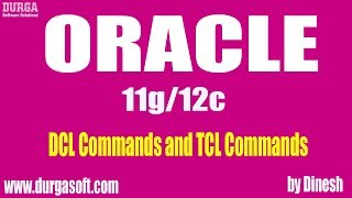Download Oracle DCL Commands and TCL Commands Video