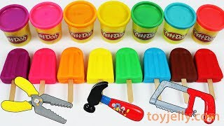 Download Learn Colors Play Doh Popsicle Ice Cream Peppa Pig Paw Patrol Molds Baby Kinder Joy Surprise Toys Video