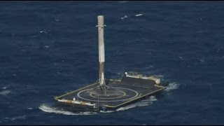 Download SpaceX lands rocket at sea, makes history Video